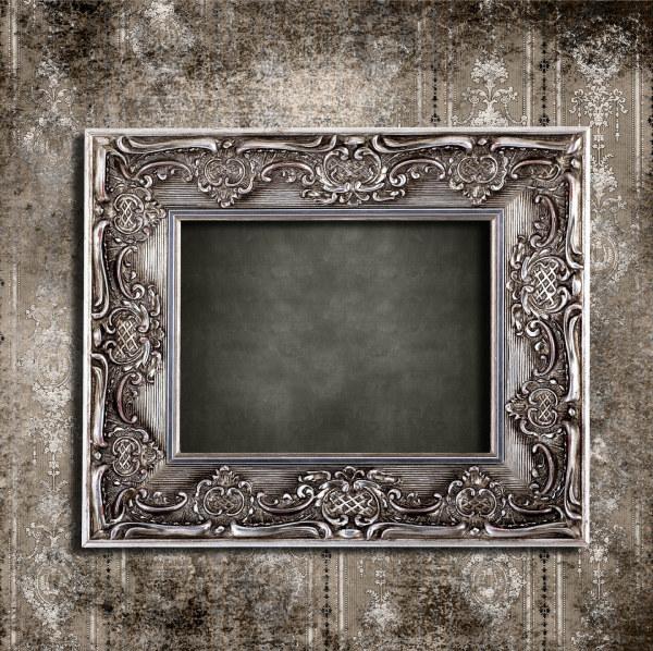 漂亮的欧式相框与墙纸图片,相框,欧式,花纹,华丽,墙壁,墙纸,古典