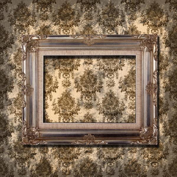 漂亮的欧式相框与墙纸图片-素彩图片大全