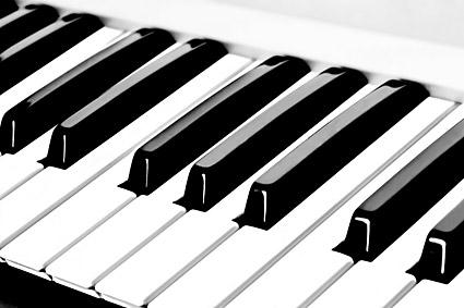 琴键特写图片-素彩图片大全