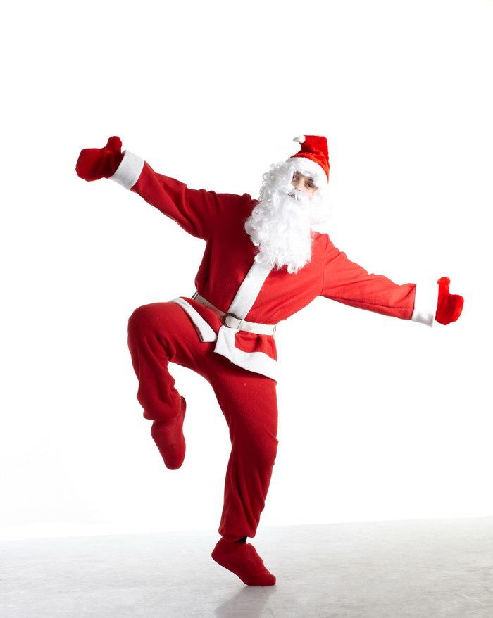 圣诞老人跳街舞图片-素彩图片大全
