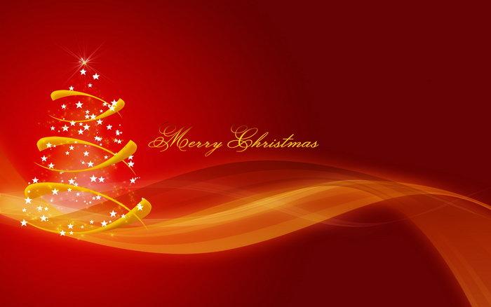 红色圣诞节图片-素彩图片大全