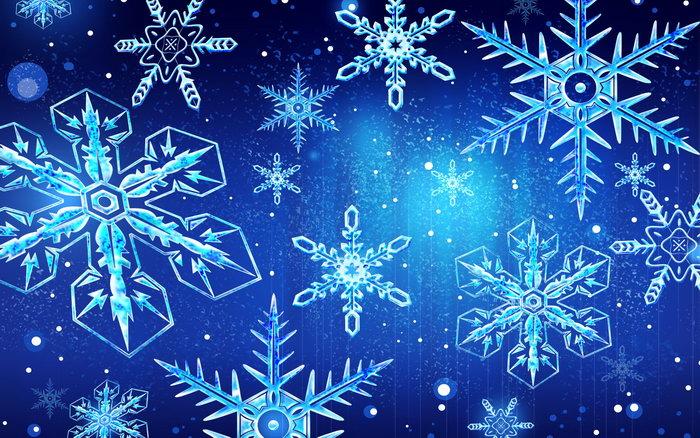 圣诞节雪花图片-素彩图片大全