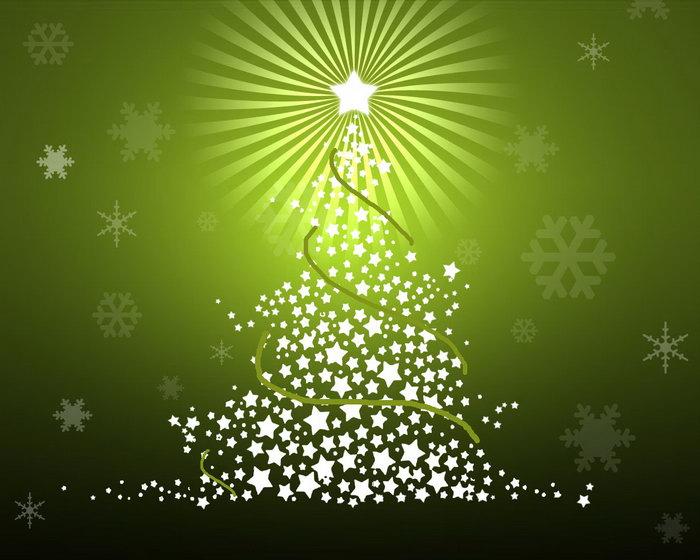 星星组成的圣诞树图片