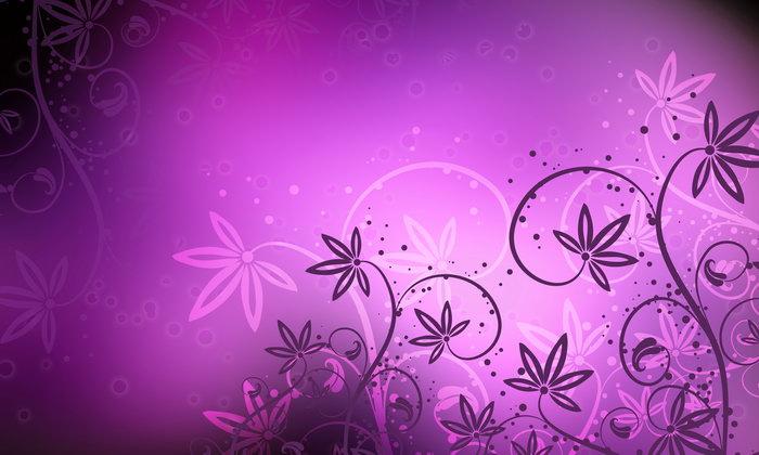 紫色花纹图片-素彩图片大全