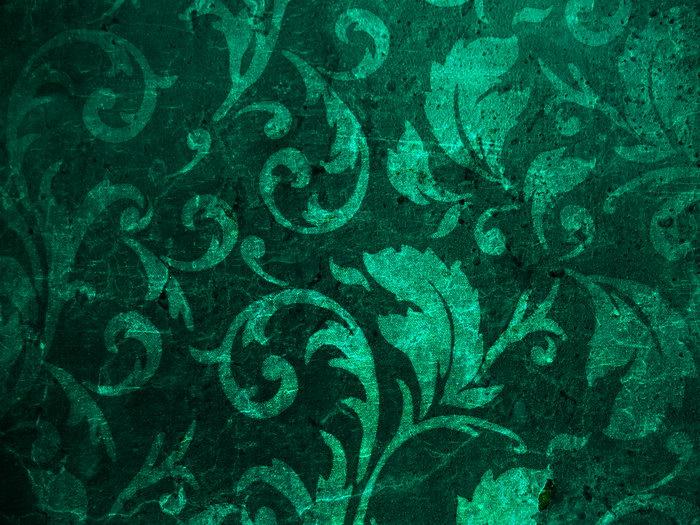 绿色花纹背景图片-素彩图片大全