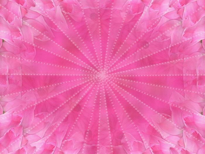 花瓣心形边框图片