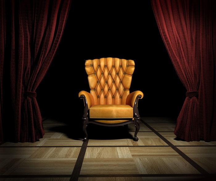欧式沙发幕布背景图片