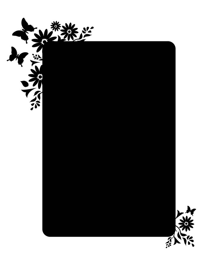 黑色花边黑色背景图片