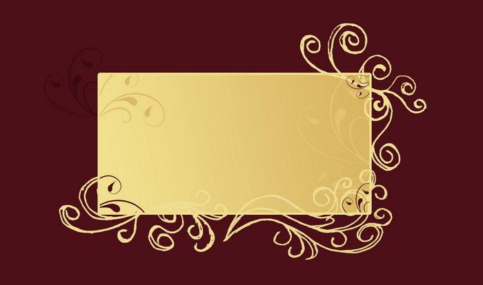 金色花纹边框图片-素彩图片大全