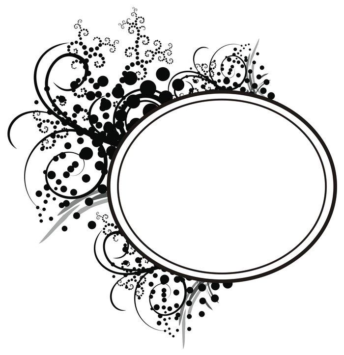 圆形花纹边框图片-素彩图片大全