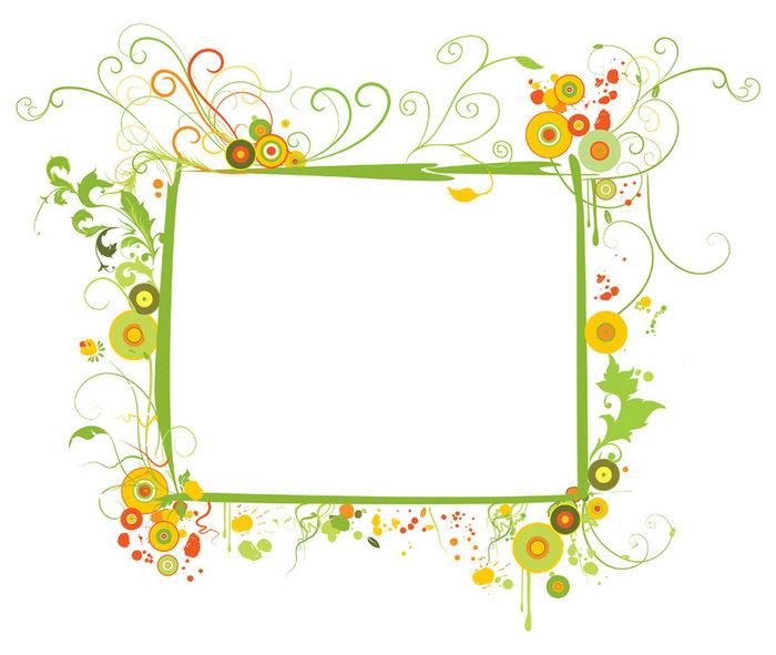 绿色花纹边框图片-素彩图片大全