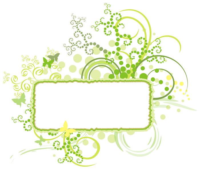 绿色花纹边框图片