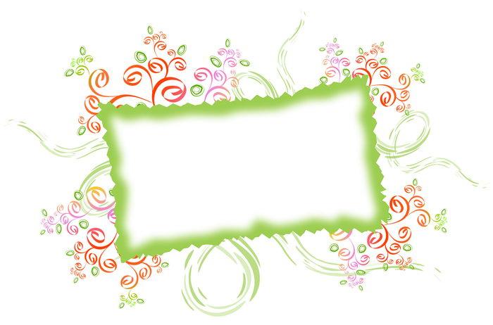 绿色花纹相框图片-素彩图片大全