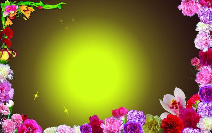 花朵边框图片-素彩图片大全