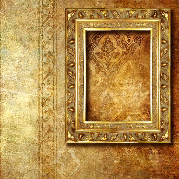 金属画框欧式花纹墙纸图片