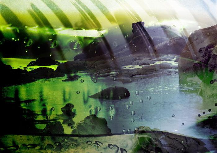 青山碧海背景图片