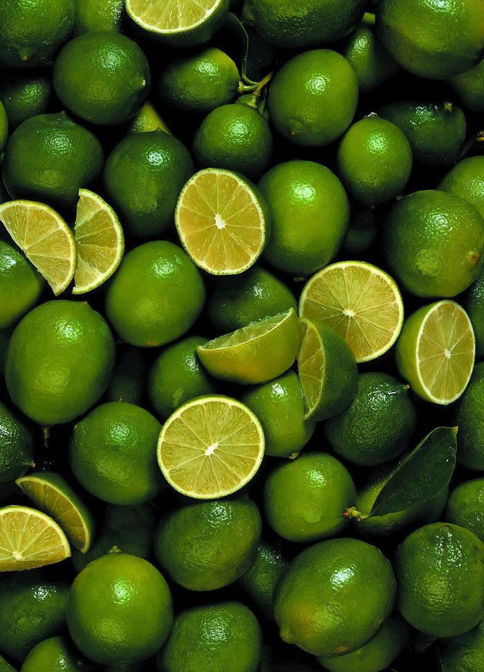 绿色柠檬背景图片