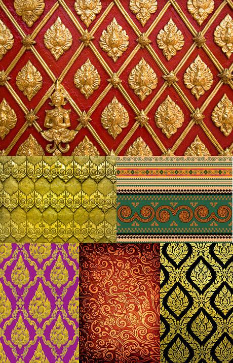 泰式花纹背景图片,泰式,花纹,泰国,纹理,传统,佛,背景,墙臂,背景,佛