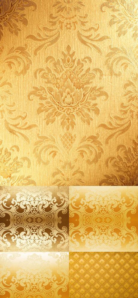 背景,底纹,华丽金色花纹墙纸背景,墙纸,华丽金色花纹墙纸,金色欧式花