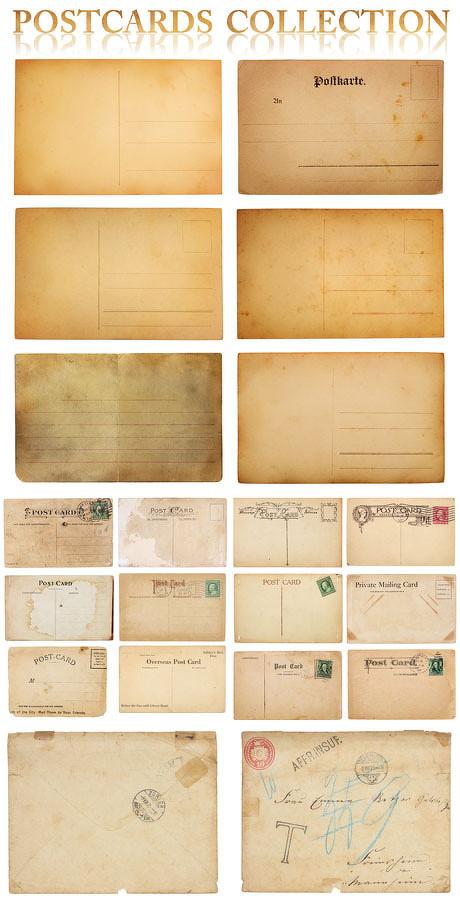 复古欧式明信片图片