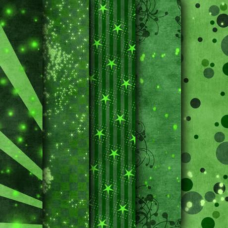 绿色花纹墙纸图片