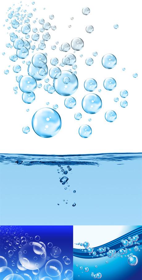 水泡动态图矢量图