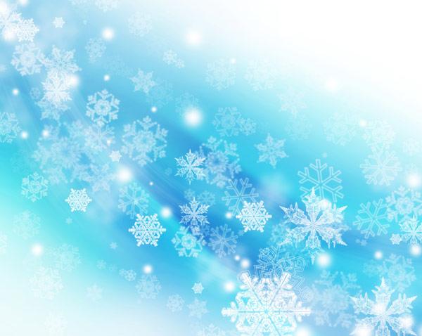 圣诞雪花梦幻背景04图片