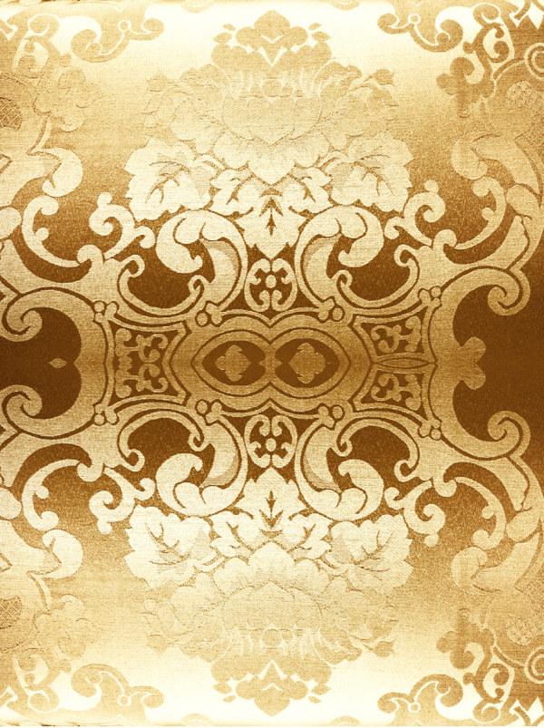 金色欧式花布图片,花布,金色,花纹,材质,背景,面料,布料,布纹