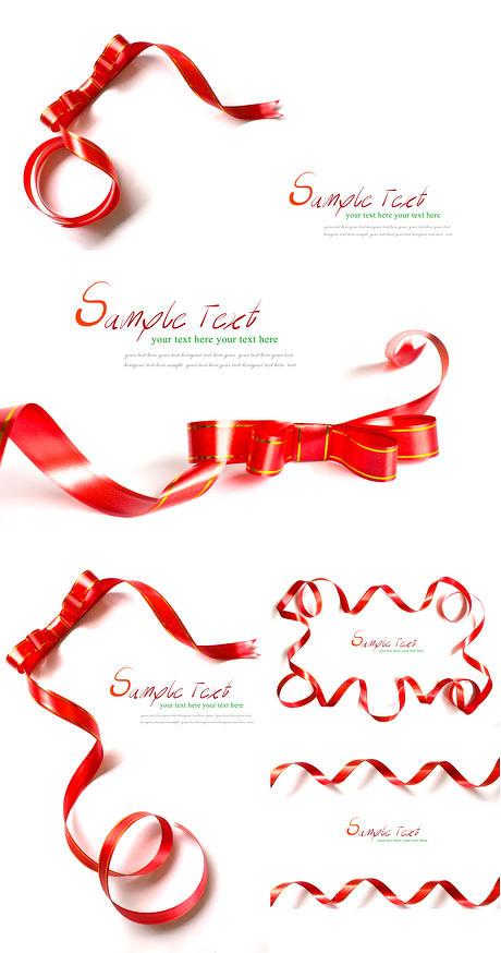 蝴蝶结,红彩带,文本框,丝带,金边,彩带,彩带不错,文本框,红色,蝴蝶结