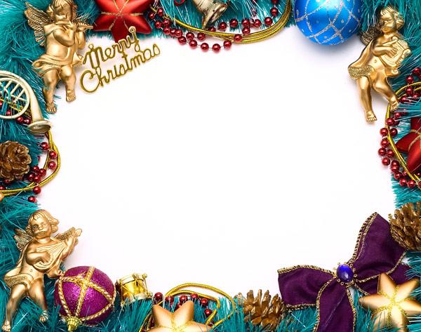 圣诞节饰物边框3图片-素彩图片大全