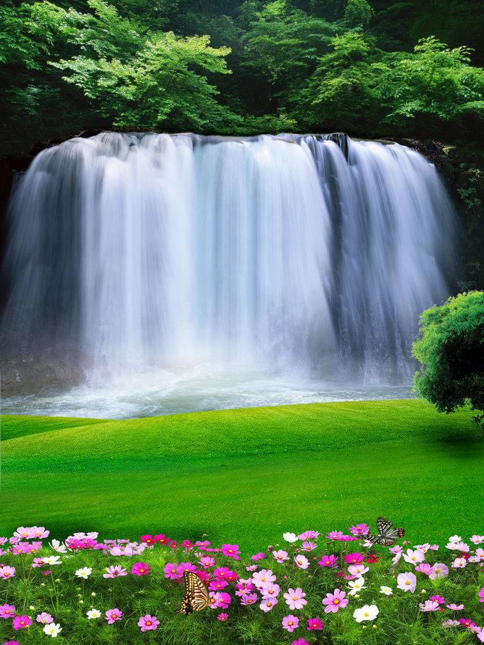 瀑布图片,瀑布,自然风景,摄影,山水景观设计,3543x4724像素