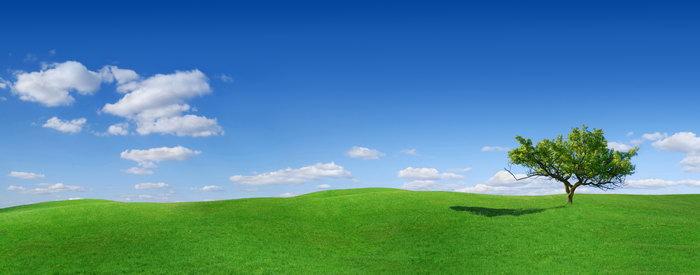 绿草平原蓝天白云图片,绿草平原,蓝天白云风景,宽屏巨幅风光,自然风景