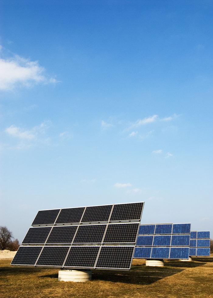太阳能电池板环保图片,太阳能电池板环保,自然风景,摄影,山水景观