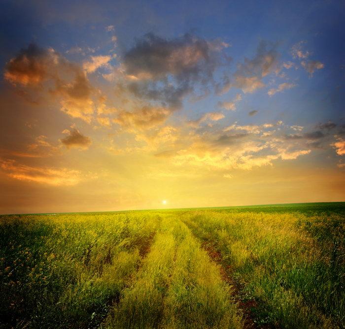 夕阳自然风景图片-素彩图片大全