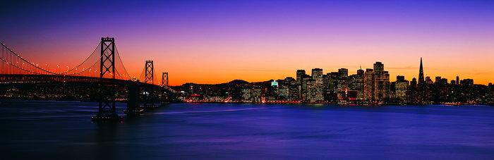 美国都市夜景图片