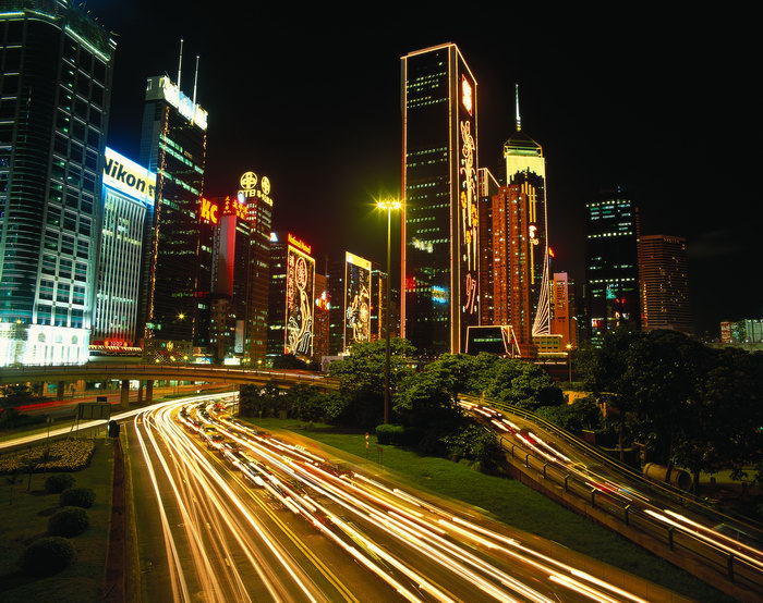 香港夜景图片-素彩图片大全