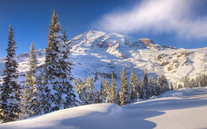 雪山风景图片-素彩图片大全
