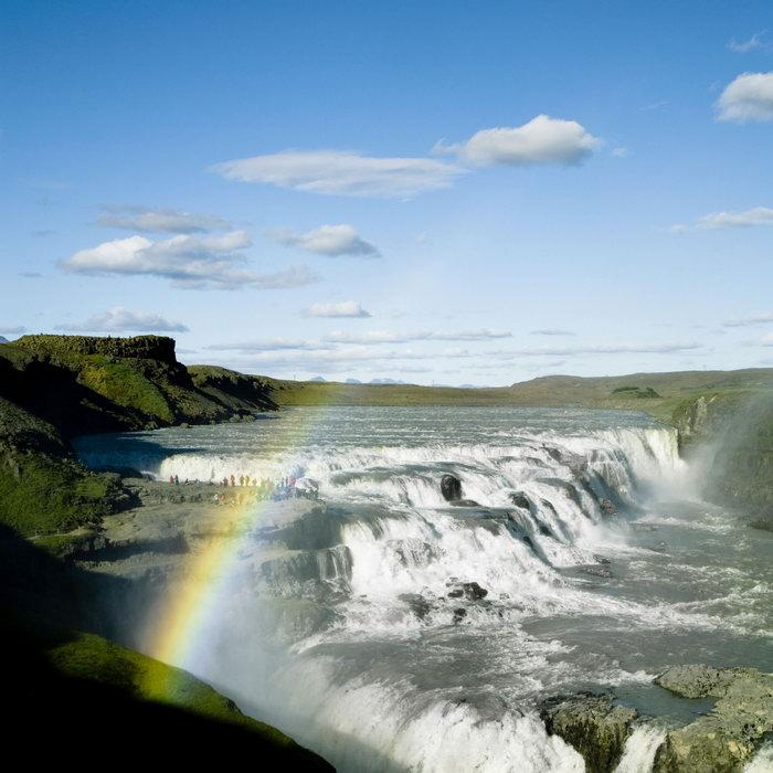 壮丽的瀑布奇观图片,壮丽的瀑布奇观风景彩虹,自然风景,摄影,山水景观
