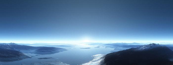南极洲海洋雪山图片,南极洲海洋雪山风景,宽屏巨幅风光,自然风景,摄影