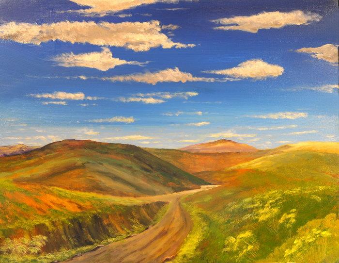 山坡油画图片,山坡油画,自然风景,摄影,山水景观,5920x4580像素