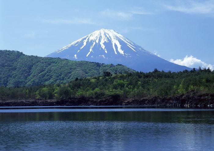 富士山水风景图片