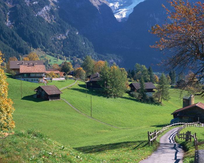 瑞士山间村庄图片,瑞士山间村庄,瑞士旅游,摄影,城市建筑,风景,2500x