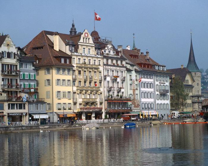 瑞士沿河城镇图片,瑞士沿河城镇,瑞士旅游,摄影,城市建筑,风景,2500x