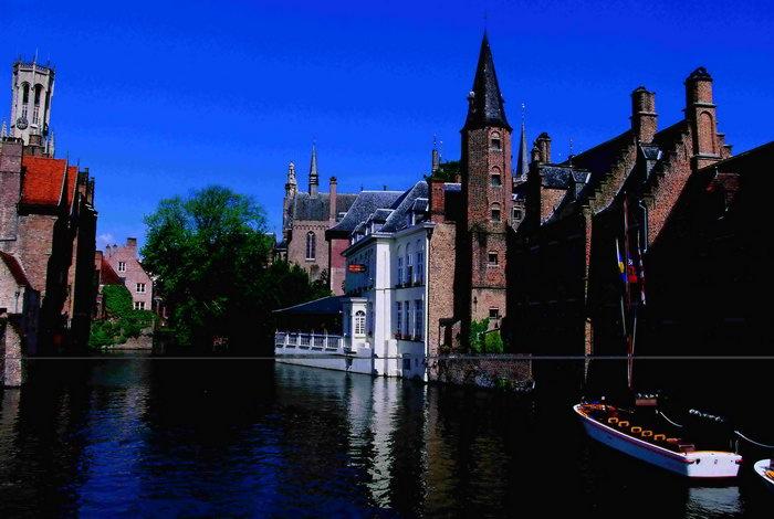 荷兰水上风景图片-素彩图片大全