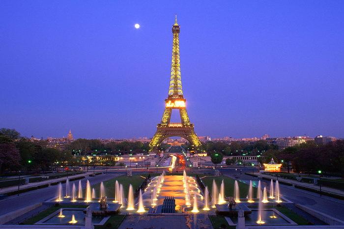 巴黎美丽夜景图片-素彩图片大全