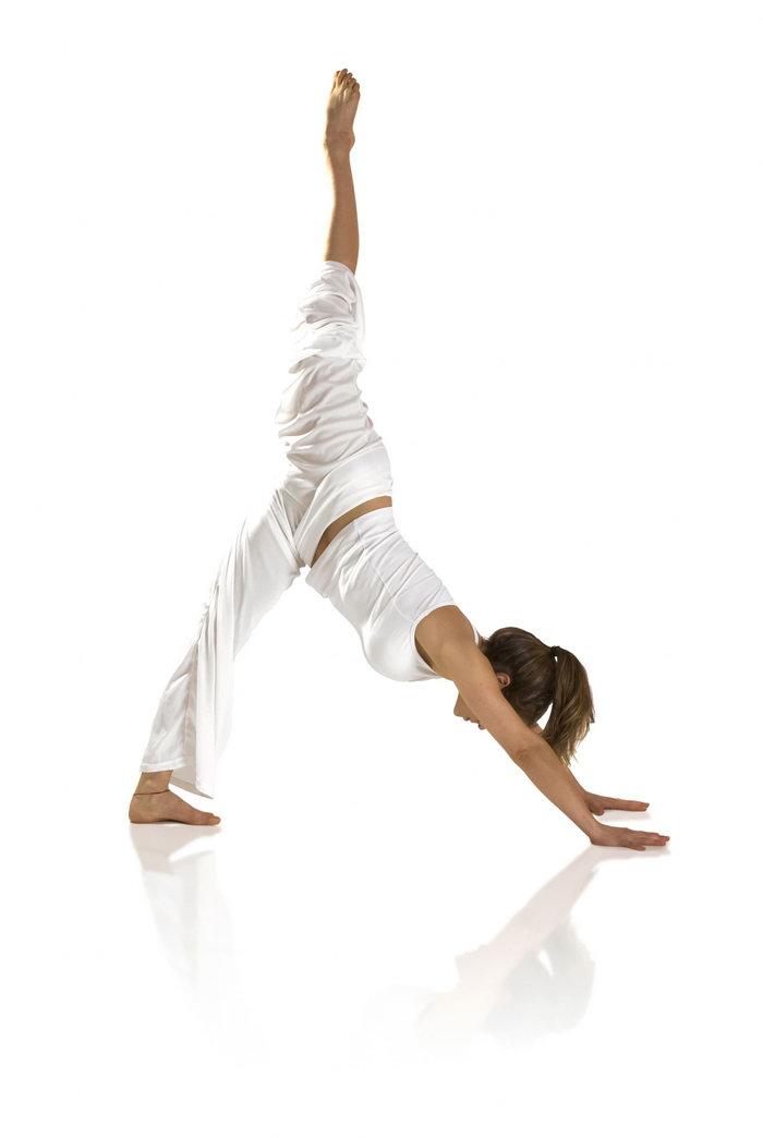 瑜伽动作图片-素彩图片大全
