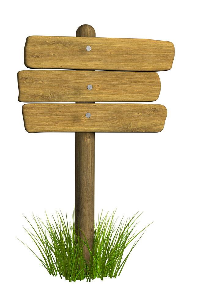 木板指示牌图片-素彩图片大全