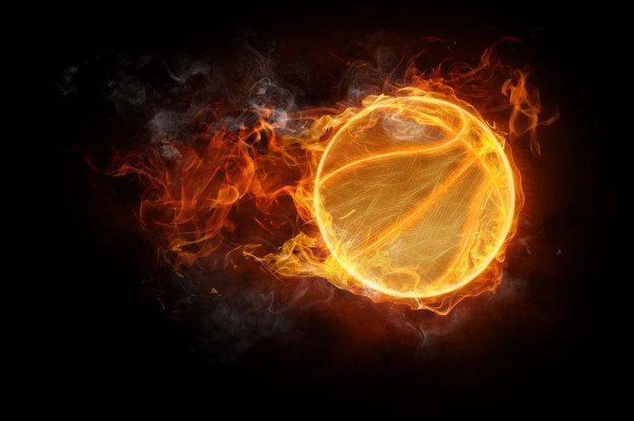 燃烧的火球图片