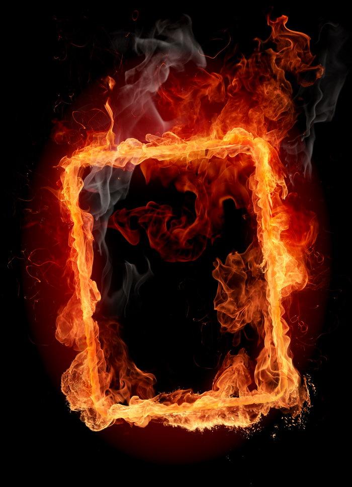 火焰边框图片-素彩图片大全