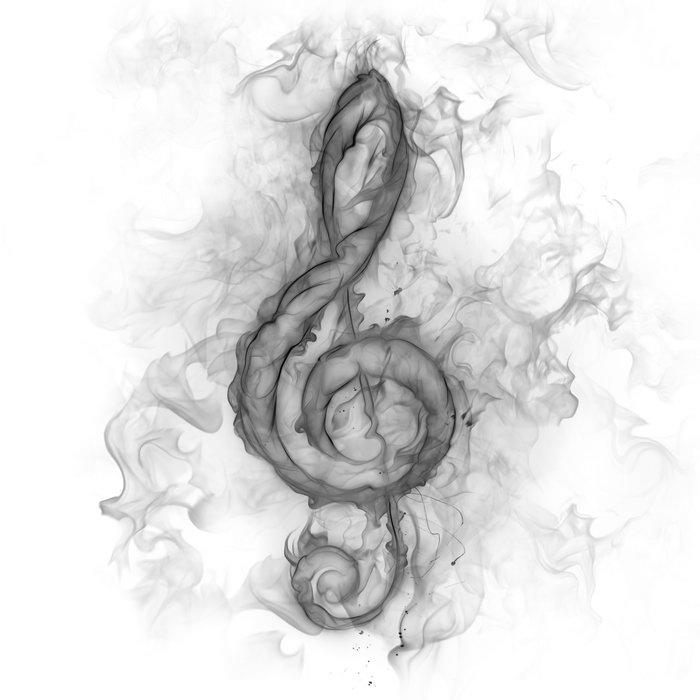 烟雾音符图片,烟雾音符,创意设计,创意,摄影,4000x4000像素图片